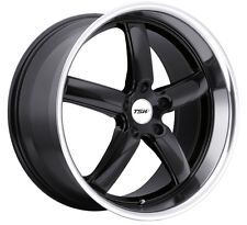 17x8 TSW Stowe 5x112 Rims +32 Black Wheels (Set of 4)