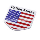 Car Aluminum United States USA Flag Shield Emblem Badge Truck Auto Decal Sticker