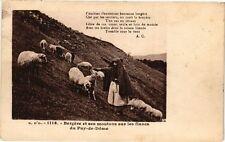 CPA  G.D'O.- Bergére et ses moutone sur les flance du Puy-de-Dome   (220728)