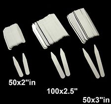 "200 New Plastic Collar Stays for Men's Dress Shirt- Mix of sizes 2"" / 2.5""/ 3.0"""