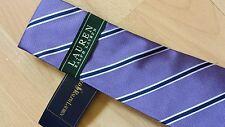 BNWT Lauren Ralph Lauren Wide stripe tie in Purple colour