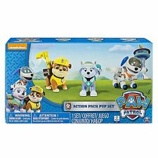 Paw Patrol Action Pup 3Pk Everest Robodog Rubble Toddler Kids Toy Pet Play New