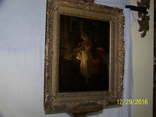 Dutch Master c17th/18th Century Original Oil On Canvas Painting of Light
