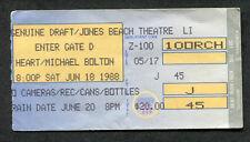 1988 Heart Michael Bolton concert ticket stub Wantagh NY Jones Beach