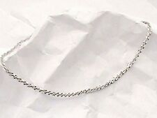 Italy 14K White Gold on 925 Sparkle Twisted Rope Link Anklet Anklet Bracelet 9""