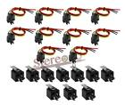 10 Pack The Install Bay 30/40 AMP Relay Harness Spdt 12V Bosch Style