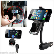 3in1 Car Wireless Bluetooth MP3 Player FM Phone Mount Bracket Holder USB Charger