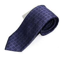 $260 NWT Tom Ford 100% Silk Purple Textured Weave Geometric Check Hand Made Tie