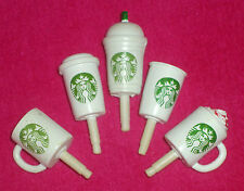 5 x STARBUCKS DUST PLUGS for Iphone Mobile Cell Phone~Coffee Cup Mug~Charms~New