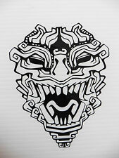 Aztec totem mask myths Magic stickers/car/van/bumper/window/decal 5292 Black