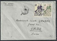 Afrique Occidentale Francaise Airmailcover to Orbe
