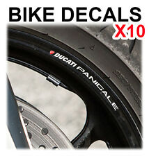 10X DUCATI PANIGALE MOTORCYCLE BIKE WHEEL STICKERS DECALS TAPE RIMS