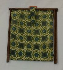 Crochet Caddy Folding Floral Yarn Holder Vintage Stand Knitting Sewing Supplies
