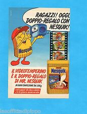 TOP986-PUBBLICITA'/ADVERTISING-1986- NESTLE' - NESQUICK - IL VIDEOTEMPERINO