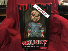 "Talking Child's Play Scar Chucky Good Guy 15"" Mezco Dented Figure Halloween Doll"