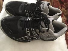 Asics Gel Rocket Womens SIZE 6.5 RN B257N Black & Silver