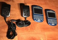 Lot (2) Research In Motion BlackBerry 7230 smartphone for T-Mobile W Power Cord