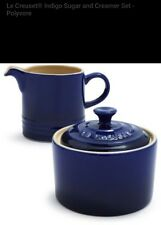 NIB Le Creuset Stoneware Cream and Sugar Set, Indigo
