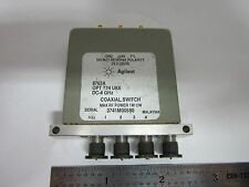 AGILENT HP COAXIAL SWITCH 8763A RF MICROWAVE FREQUENCY #1E-M-3