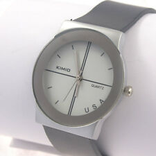 kimio LUXURY unisex mens lady  WHITE DIAL WATCH Quartz wristwatch  USA New