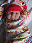 Cotton Newborn Baby Girls Everyday Nay Summer Time Bunting Gown & Hat