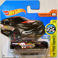 HOT WHEELS 2017 HW SPEED GRAPHICS '15 DODGE CHARGER SRT #6/10 BLACK SHORT CARD