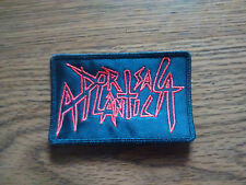 DORSAL ATLANTICA,SEW ON RED EMBROIDERED PATCH