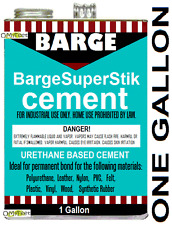 1 Gallon Barge SuperStik Super-Stik Stick Cement Glue Adhesive Vinyl Plastic NEW