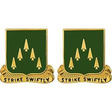 USA Army Crest 70th Armor Motto: Strike Swiftly 1-PAIR     NEW (Army Issue)