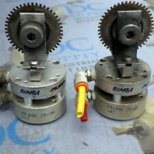 BIMBA FT-090.25-3R FLAT II PNEUMATIC CYLINDERS W/ ATTACHMENTS, LOT OF 2