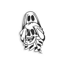 SKULLY GHOST GID SOFT ENAMEL BLACK METAL PLATED PIN
