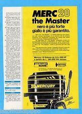 QUATTROR982-PUBBLICITA'/ADVERTISING-1982- MERCURY - MERC 20 (versione B)