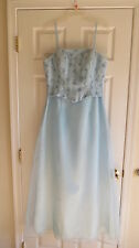 La Femme light blue formal gown size 14 beaded NWT pageant prom wedding $169