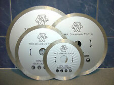 "250mm 10"" inch THK Diamond segment sintered continuous rim TILE SAW BLADE wheel"