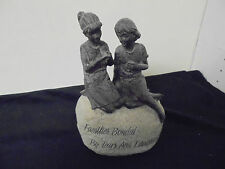 "Resin ""Families Bonded By Tears And Laughter"" Mother & Daughter Figurines 9x6"
