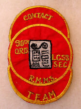 "RARE GERMAN MADE ""90 ORD"" POCKET PATCH ""CONTACT LCSS SEC R.M.M.S. TEAM"" CUT EDGE"