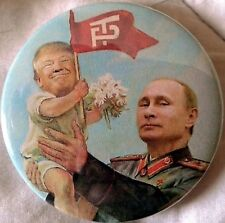 "2.25"" Anti Trump for President 2016 Vladimir Putin Baby Donald Pinback Button"