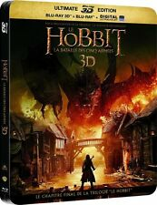 THE HOBBIT: THE BATTLE OF THE FIVE ARMIES - 3D + 2D + Dvd - Blu-Ray Steelbook -