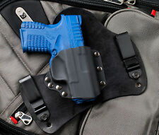 XDS 45 9 Black Leather Kydex Gun Holster Springfield Armory IWB Tuck Concealed