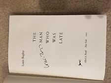 Signed first Edition of The Man Who Was Late by Louis Begley