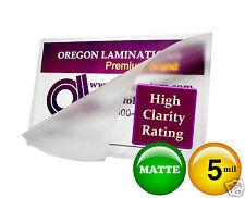 MATTE 5 Mil File Card size 3-1/2 x 5-1/2 Hot Laminating Pouches ( 50 pc) 3.5x5.5