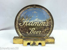 Hamm's beer sign vintage ski lodge scene reverse glass double sided style xl3