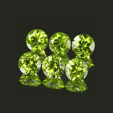 4mm 6pc Set Round Natural Green Peridot cpr1