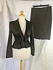 BCBG Max Azria Womens Brown Skirt Suit Jacket S Skirt 2