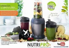 Salter NutriPro Blender Super Power 1000w smoothie Bullet shaped Juice NEW GREY