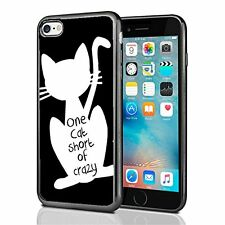One Cat Short Of Crazy For Iphone 7 Case Cover By Atomic Market