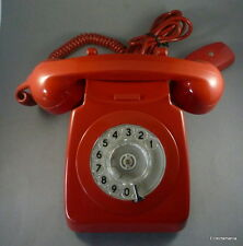 "Scarce RED 700 Series Telephone ""GPO Batch Sampled 8900"" New/Old Stock 1960s/70s"