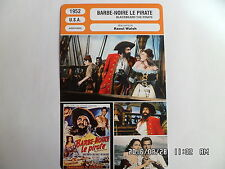 CARTE FICHE CINEMA 1952 BARBE NOIRE LE PIRATE Robert Newton Linda Darnell