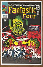 Fantastic Four #49 poster art print '92  Jack Kirby Galactus, Silver Surfer