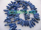 "lapis lazuli cattle horn beads 15"" nature"